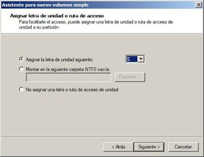 Crear y formatear partición en Windows Server 2008