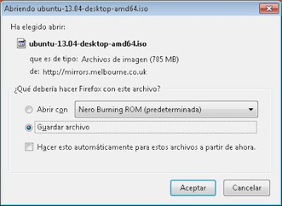 Instalar Linux Ubuntu Desktop 13.04 en un PC con Windows 8, arranque dual