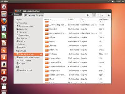 Verificar arranque dual de Windows 8 o Linux, verificar particiones creadas