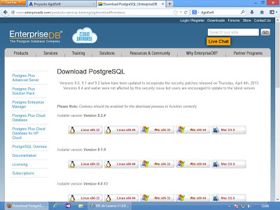 Instalar PostgreSQL 9.2.4 x64 en Windows 8 x64
