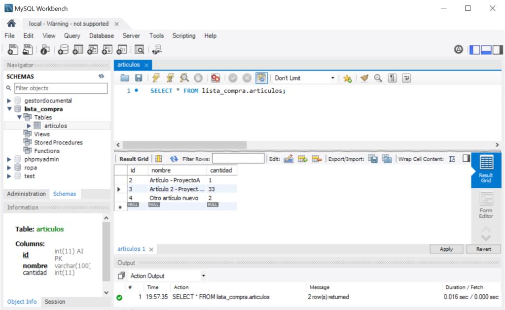 El servidor de MySQL o de MariaDB