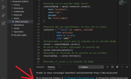 Trabajando con MySQL MariaDB y Python