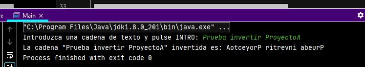 Invertir el texto de una cadena en Java