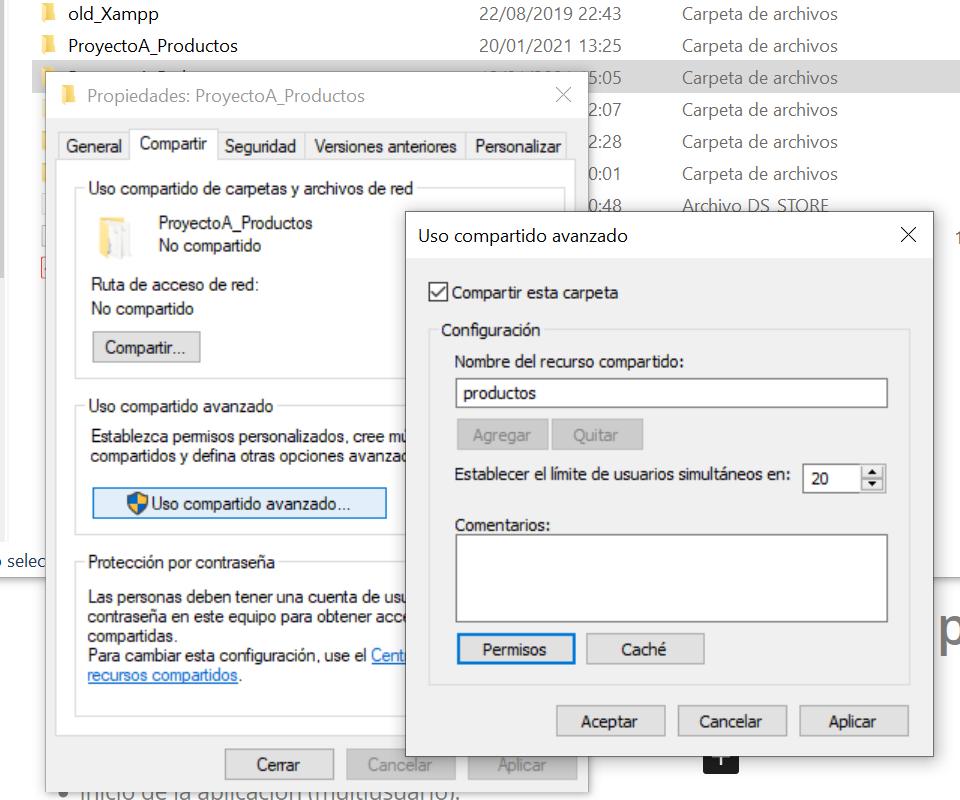 Instalación del programa AjpdSoft Gestión de Productos Fitosanitarios, configuración para trabajo en red