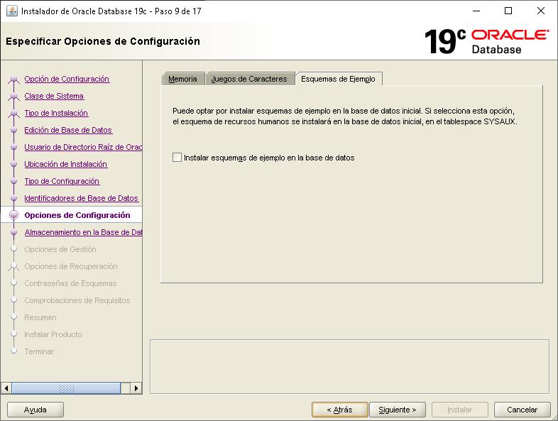 Instalar Oracle Database 19c en Windows Server 2019