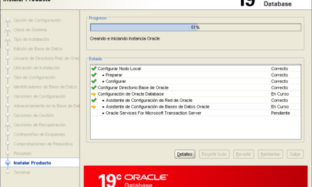 Instalar Oracle Database 19c en Windows Server 2019