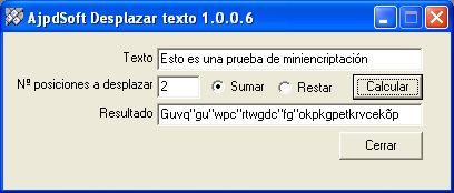 AjpdSoft Desplazar texto