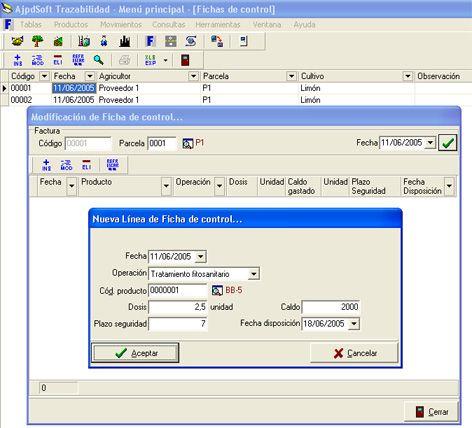AjpdSoft Trazabilidad de productos fitosanitarios