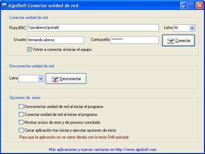 AjpdSoft Conectar unidad de red Código Fuente Delphi 6