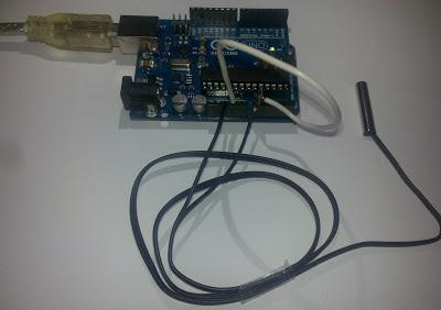 Obtener temperatura con sensor SEN118A2B de cabeza de acero y Arduino