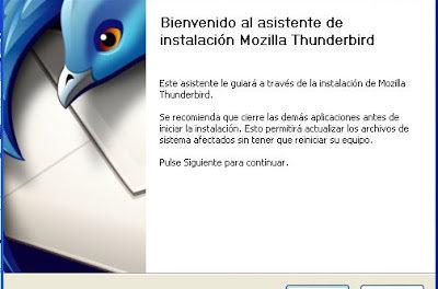 Instalar cliente correo Mozilla Thunderbird en WXP, importar contactos Google