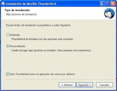 Instalar Mozilla Thunderbird en equipo con Windows XP
