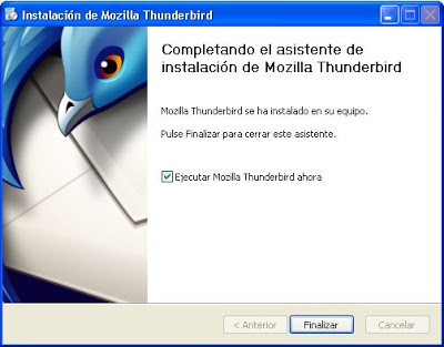 Instalar Mozilla Thunderbird en equipo con Windows XP