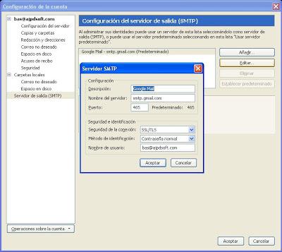 Configurar cuenta de correo electrónico en Mozilla Thunderbird
