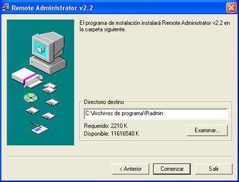 Instalar Remote Administrator en Windows XP 64 Bit