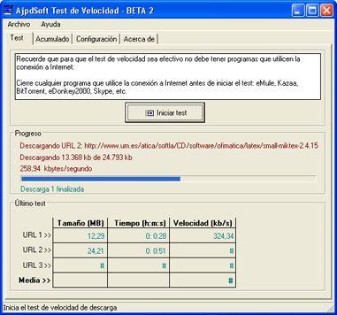 AjpdSoft Test de Velocidad Beta
