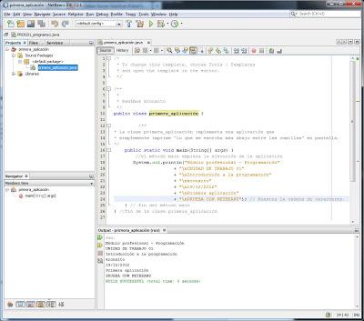 Mi primera aplicación Java con NetBeans