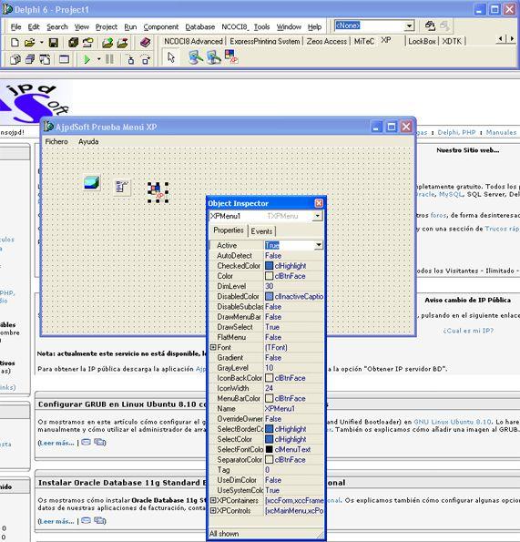 Cómo instalar algunos componentes habituales en Borland Delphi 6