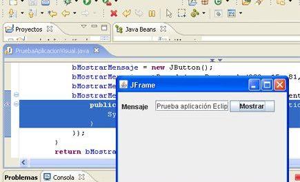 Instalar y trabajar con la clase Visual Editor de Eclipse (Java)