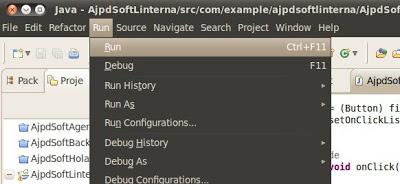 Asignar código a evento onClick de un botón en Eclipse para aplicaciones Android