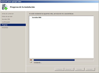 Instalar rol Servidor DNS en Microsoft Windows Server 2008 Standard x64