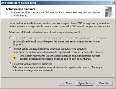 Agregar una nueva zona de búsqueda directa en el servidor de DNS Windows Server 2008