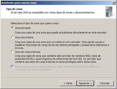 Agregar una nueva zona de búsqueda inversa en el servidor de DNS Windows Server 2008
