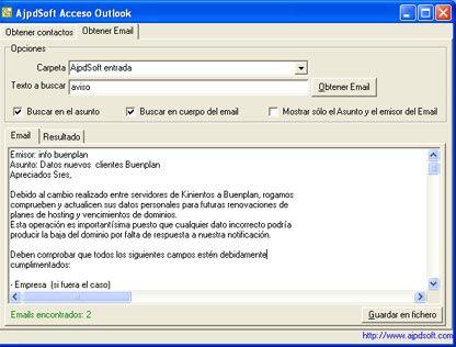 AjpdSoft Acceso Outlook Código Fuente Delphi