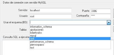 AjpdSoft Acceso MySQL con ADO.NET en C# en funcionamiento