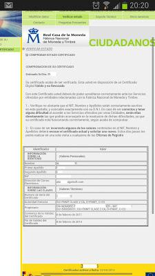 Verificar certificado instalado en Android