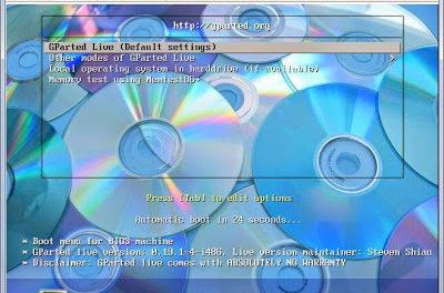 Ampliar partición raíz y swap máquina virtual Linux en VMware ESXi con GParted