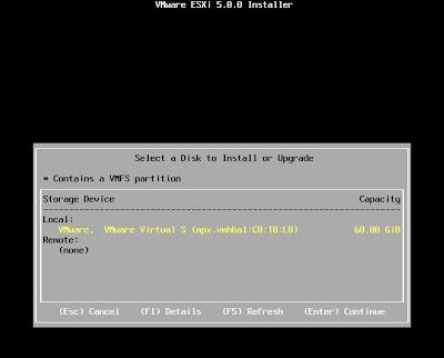 Instalar VMware ESXi 5 sobre VMware Workstation 7
