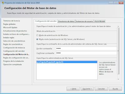 Instalar Microsoft SQL Server Express 2014 x64 con herramientas (SQLEXPRWT) en Windows 7 x64