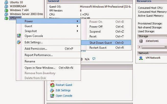Quitar referencias al datastore a eliminar en las máquinas virtuales VMware ESXi