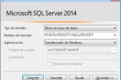 Montar servidor base datos gratuito SQL Server Express 2014 x64 en Windows 7