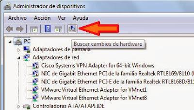 Desinstalar dispositivo y controlador driver en Windows y volver a buscar nuevos dispositivos
