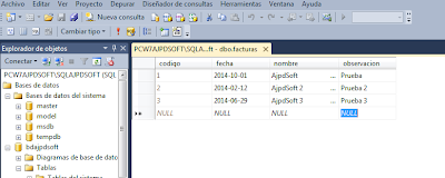 Administración SQL Server Express 2014 con SQL Server Management Studio 2014