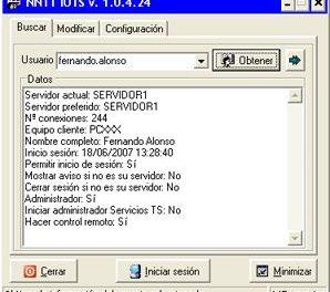 AjpdSoft Información Usuarios Terminal Server