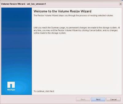Ampliar tamaño de volumen en SAN NetApp