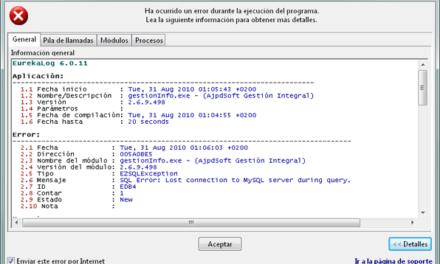 Captura de errores profesional con EurekaLog en Delphi y Visual Studio .Net