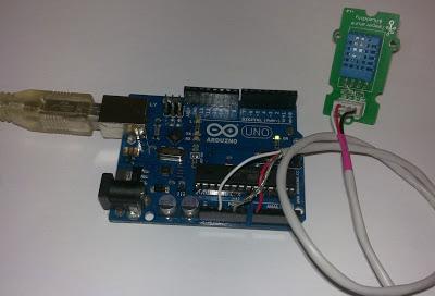 Conexión de sensor de temperatura y humedad con Arduino UNO