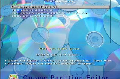 Ampliar tamaño partición sistema máquina virtual W2003 VMware ESXi con GParted