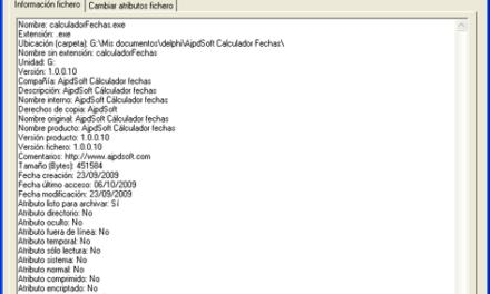 AjpdSoft Información de fichero Código Fuente Delphi 6
