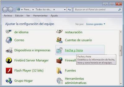 Hora ROA si el equipo no pertenece a un dominio Windows (grupo de trabajo)