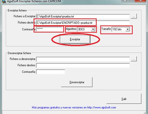AjpdSoft Encriptar ficheros con CAPICOM Código Fuente Delphi 6