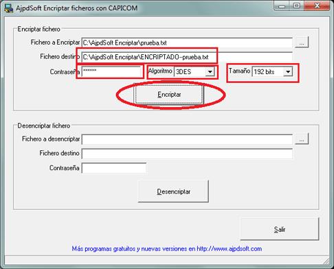 Encriptar y desencriptar ficheros con CAPICOM y Delphi