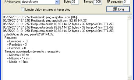 AjpdSoft Ping ICMP
