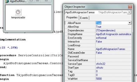 Cómo desarrollar un servicio de Windows con Borland Delphi