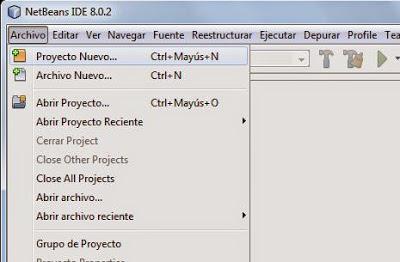 Crear nueva aplicación o proyecto Java en el IDE NetBeans