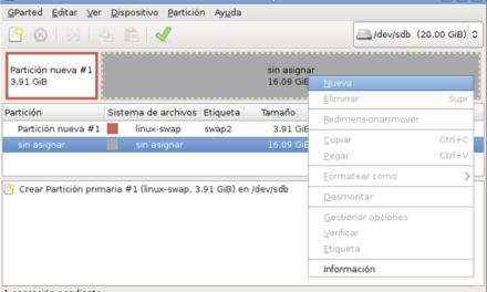 Ampliar memoria swap de intercambio en Linux Debian y Ubuntu con nueva partición